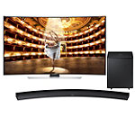 Samsung 65' Curved 4K Ultra HD 3D Smart TV  with Soundbar and Wireless Subwoofer