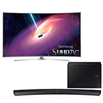 Samsung 65' Curved 4K SUHD 3D Smart TV with FREE Soundbar and Wireless Subwoofer 4497.99