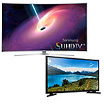 Samsung 65' Curved 4K SUHD 3D Smart TV with FREE 32' LED HDTV