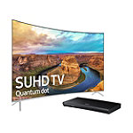 Save $200 on Samsung 65' Curved 4K SUHD Smart TV and 4K Ultra HD 3D Blu-ray Player