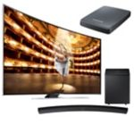 """Samsung 78"""" Curved 4K Ultra HD 3D Smart TV with Curved Soundbar and FREE UHD Video Pack"""