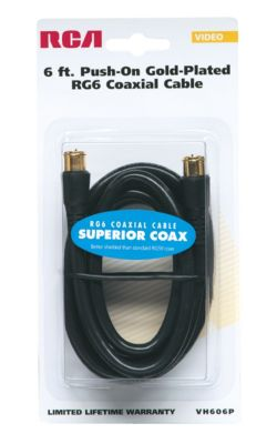 RCA 6' RG6 Coaxial Cable