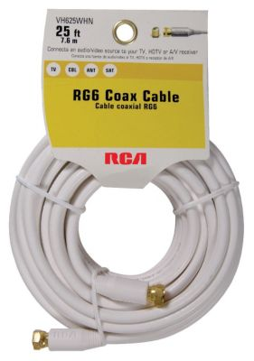 RCA 25' Digital Coaxial Cable with Gold-Plated Screw-On