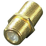 RCA Coaxial Cable Feed-Thru / In-Line Connectors (Two) 1.99