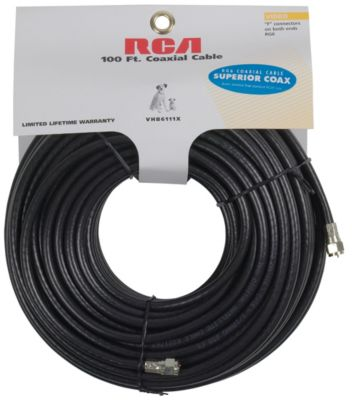RCA 100' RG6 Coaxial Cable
