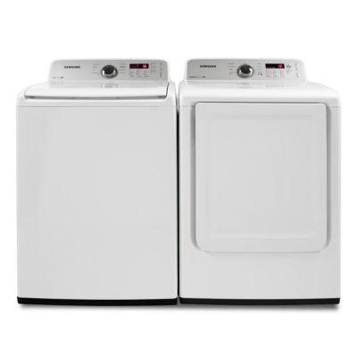 Samsung 4.0 Cu. Ft. High-Efficiency Top-Load Washer and 7.2 Cu. Ft. Electric Dryer
