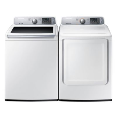 Samsung 4.5 Cu. Ft. HE Top-Load Washer and 7.4 Cu. Ft. Electric Dryer
