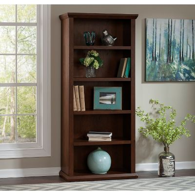 Bush Antique Cherry Yorktown Bookcase