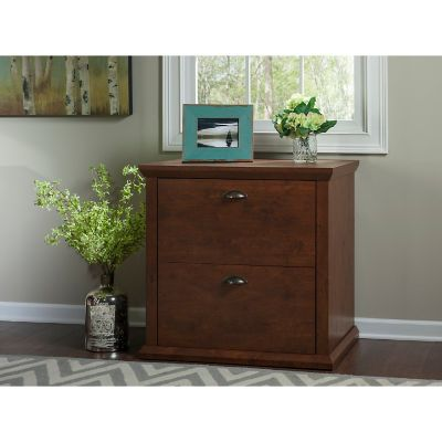 Bush Antique Cherry Yorktown Lateral Filing Cabinet