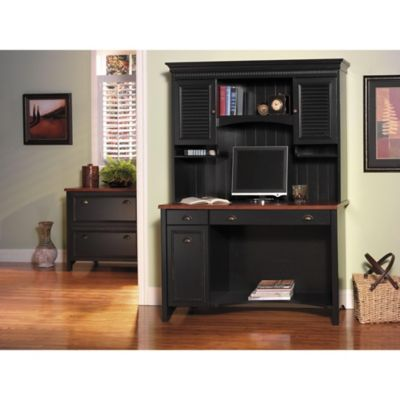 Bush Stanford Antique Black Desk
