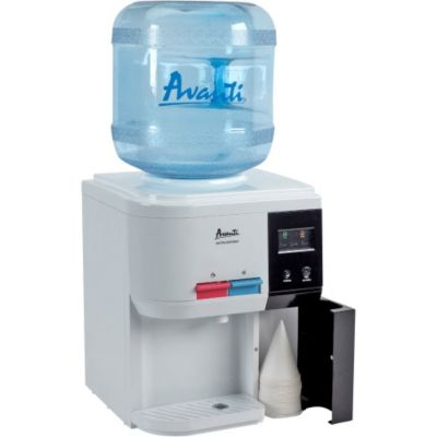 Avanti Hot/Cold Table Top Water Dispenser with Built-In Cup Storage
