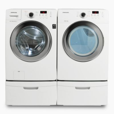 Samsung 3.6 Cu. Ft. Steam Front-Load Washer and 7.3 Cu. Ft. Steam Electric Dryer