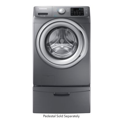 Samsung 4.2 Cu. Ft. Platinum Steam Front-Load Washer (Pedestal Sold Separately)