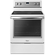 Whirlpool 30' White Ice Convection Smoothtop Electric Range