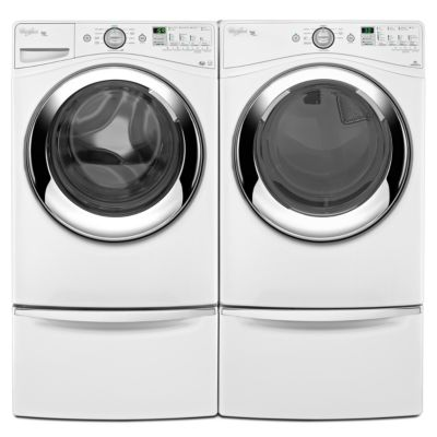 Whirlpool 4.1 Cu. Ft. Duet® Steam Front-Load Washer and 7.4 Cu. Ft. Duet® Steam Electric Dryer