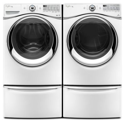 Whirlpool 4.3 Cu. Ft. Duet® Steam Front-Load Washer and 7.4 Cu. Ft. Steam Electric Dryer