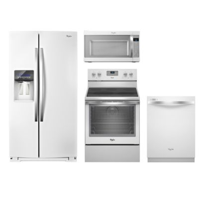 Whirlpool 4-Piece White Ice Kitchen Package ($400 Rebate)