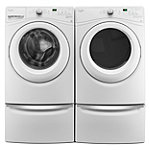 Whirlpool 4.5 Cu. Ft. Front-Load Washer and 7.4 Cu. Ft. Gas Dryer with 2 Pedestal Drawers