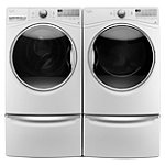 Whirlpool 4.5 Cu. Ft. Front-Load Steam Washer and 7.4 Cu. Ft. Steam Electric Dryer with 2 Pedestal Drawers
