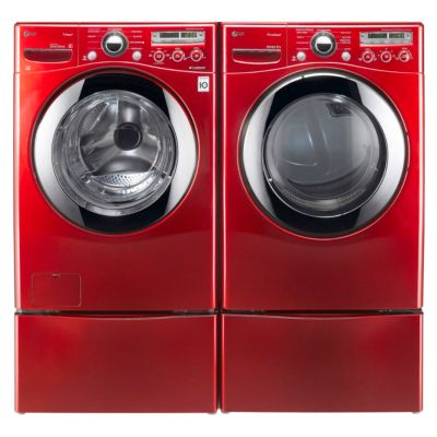 LG 3.6 Cu. Ft. Steam Front-Load Washer and 7.3 Cu. Ft. TrueSteam™ Electric Dryer