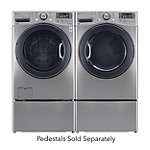 LG 4.3 Cu. Ft. Graphite Steel Steam Front-Load Washer and 7.4 Cu. Ft. TrueSteam™ Electric Dryer 1799.98