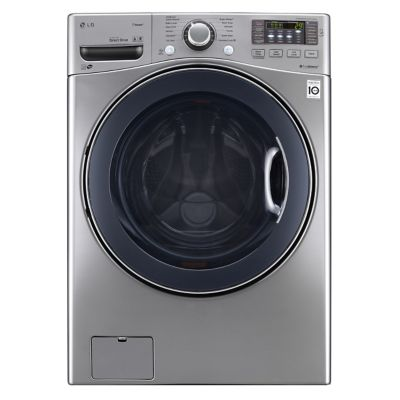LG 4.3 Cu. Ft. Graphite Steel Steam Front-Load Washer (Pedestal Sold Separately)