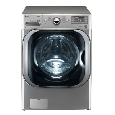 LG 5.2 Cu. Ft. Graphite Steel Steam Front-Load Washer (Pedestal Sold Separately)