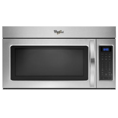 Whirlpool 1.7 Cu. Ft. 1,000-Watt Stainless Steel Over-the-Range Microwave
