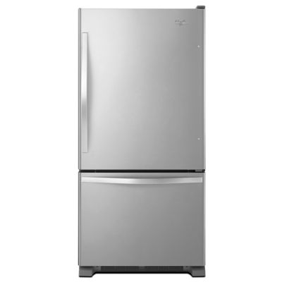 Whirlpool 22 Cu. Ft. Stainless Steel Bottom-Freezer Refrigerator