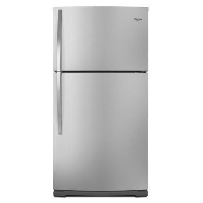 Whirlpool 21 Cu. Ft. Stainless Steel Top-Freezer Refrigerator