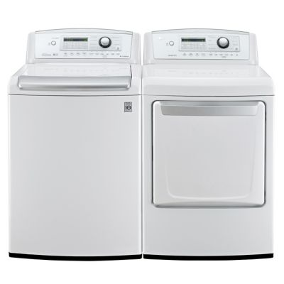 LG 4.7 Cu. Ft. HE Top-Load Washer and 7.3 Cu. Ft. Electric Dryer