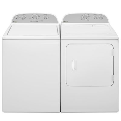 Whirlpool 3.6 Cu. Ft. Top-Load Washer and 7 Cu. Ft. Electric Dryer