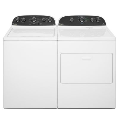 Whirlpool 3.8 Cu. Ft. HE Top-Load Washer and 7 Cu. Ft. Electric Dryer
