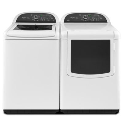Whirlpool 4.8 Cu. Ft. Cabrio® High-Efficiency Top-Load Washer and 7.6 Cu. Ft. Steam Electric Dryer