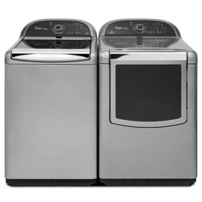 Whirlpool 4.8 Cu. Ft. Cabrio® Chrome Shadow High-Efficiency Top-Load Steam Washer and Steam Electric Dryer