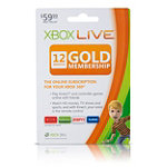 Xbox Live® 12 Month $59.99 Gold Subscription Card 59.99