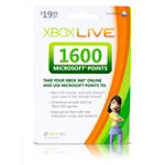 Xbox Live® 1,600 Microsoft® Points $19.99 Prepaid Card 19.99