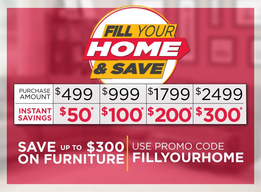 hhgregg Fill Your Home Sale: $50 off $499, $100 off $999, $200 off $1799, $300 off $2499