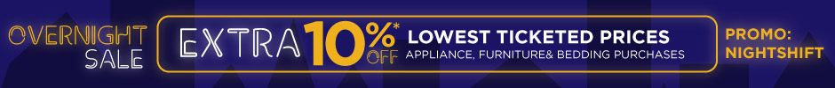 hhgregg Overnight Sale - 10% Off Appliances, Furniture and Bedding purchases online & in-store