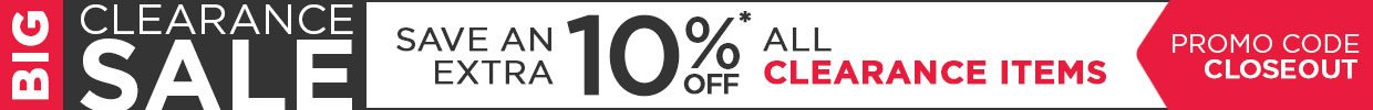 Save an Extra 10% off all Clearance Items