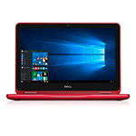 Dell 11.6' Touchscreen 2-in-1 Netbook with Intel® Pentium N3710 Processor, 4GB Memory, 500GB Hard Drive, Red