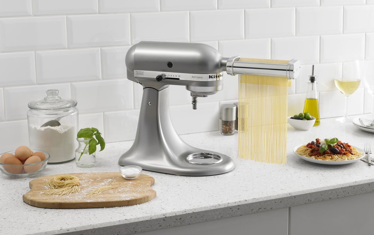 KitchenAid stand mixer pasta press attachment.