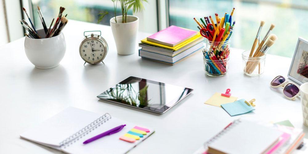 desk organization ideas.