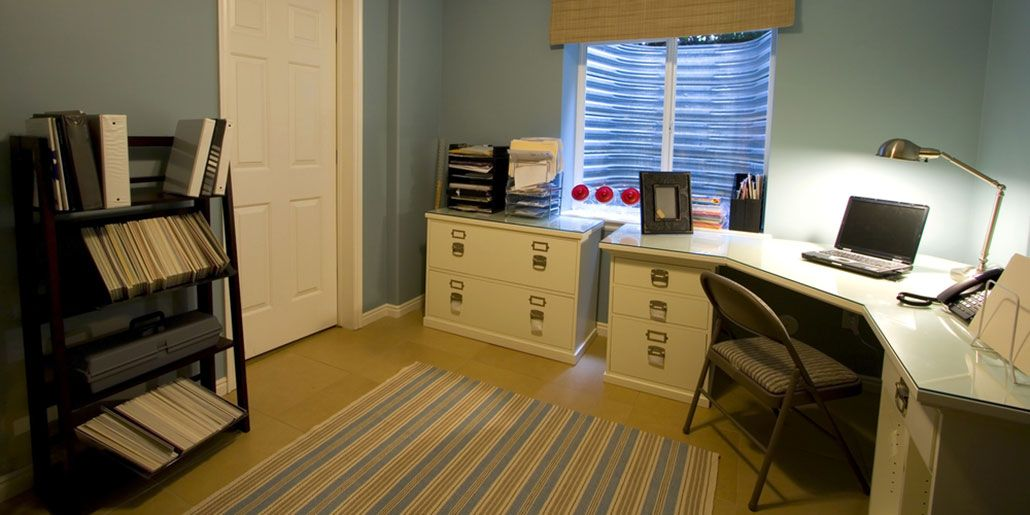 how to organize a home office with storage.