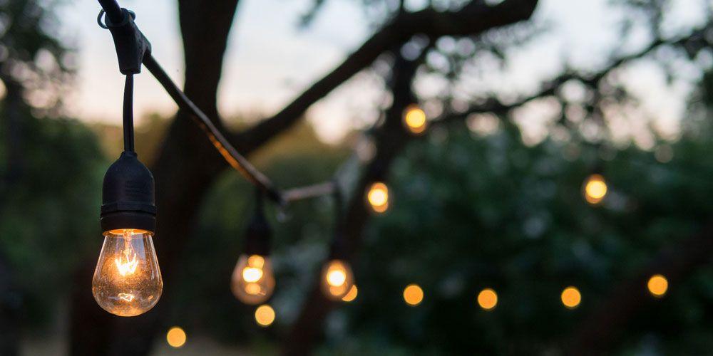 outdoor hanging patio lights.