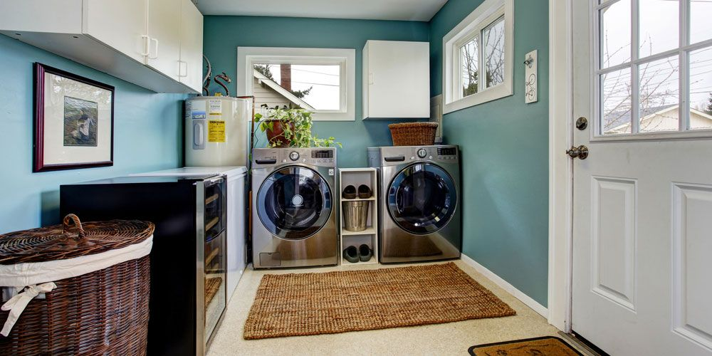 remodeled laundry room.