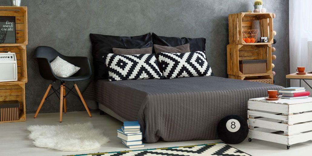organized bedroom.