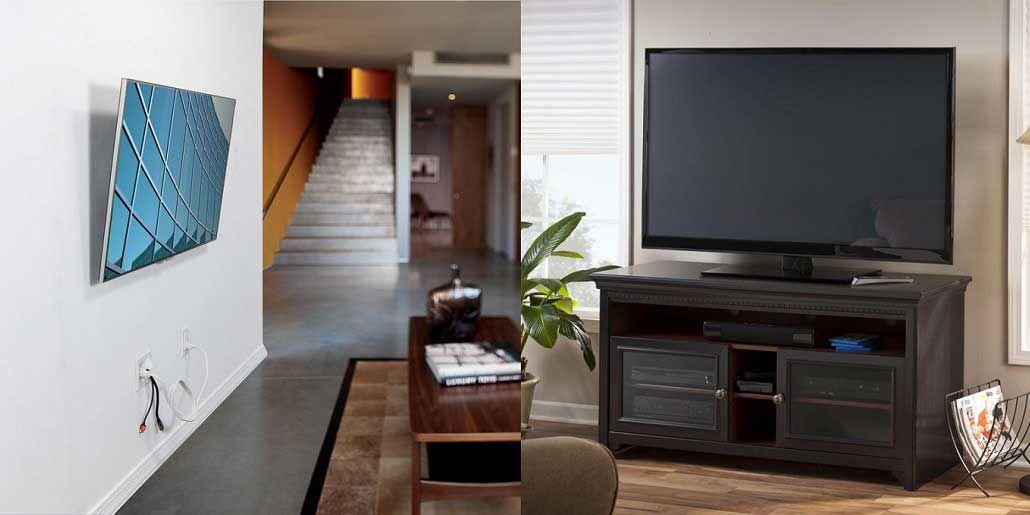 tv stand vs mount.